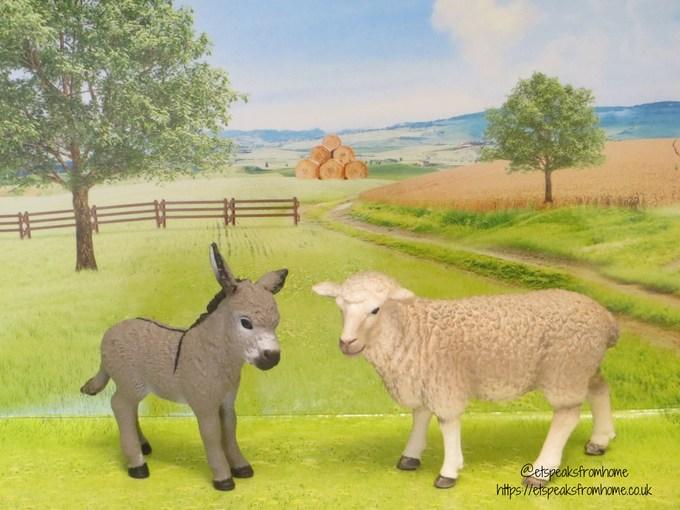 Schleich farm world donkey sheep