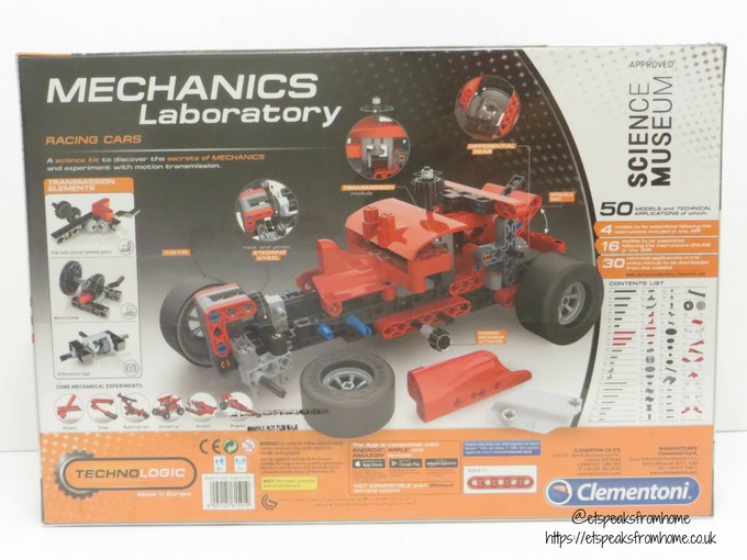 clementoni Mechanics Laboratory Grand Prix back