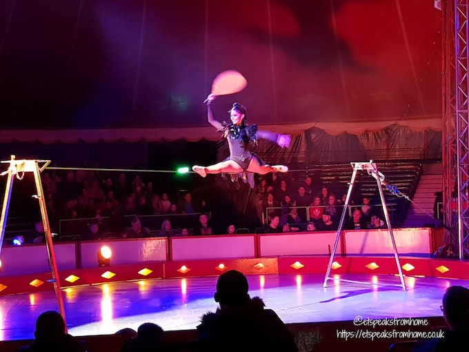 The Gandeys Circus Greatest Showmen Tour walk