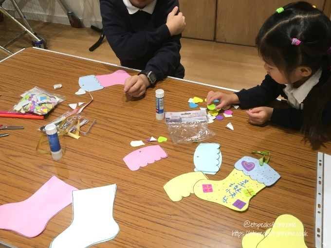 Chinese Christmas Stocking Ornaments craft with kids