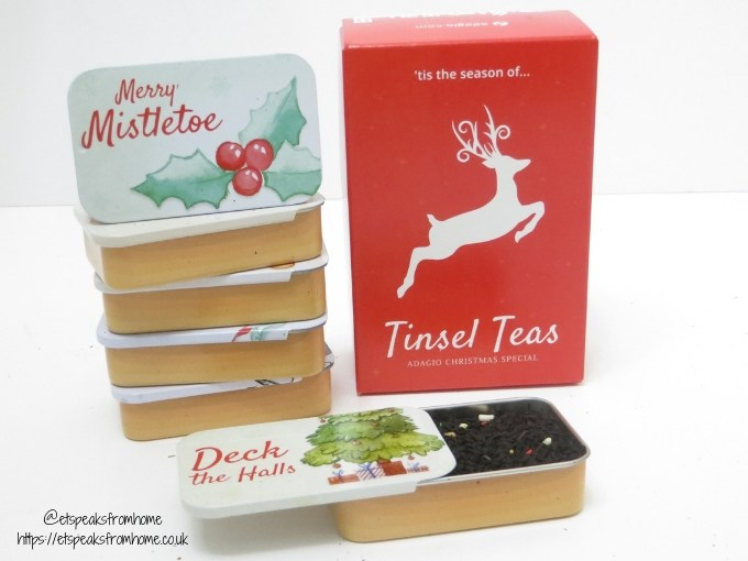 Limited Edition Tinsel Teas tins with box