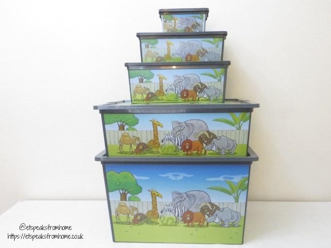 Maqio Boxes 5 set storage boxes zoo