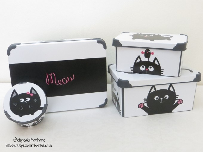 Maqio Boxes set of 4 decorative boxes cats