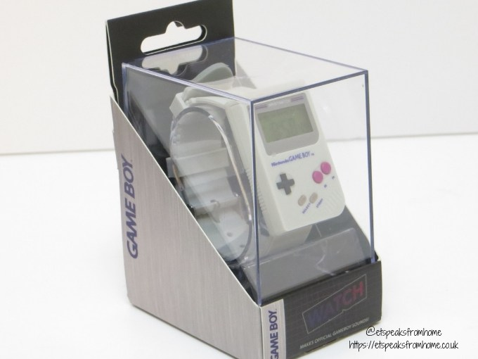 Paladone Gift Guide for Gamers game boy watch in box