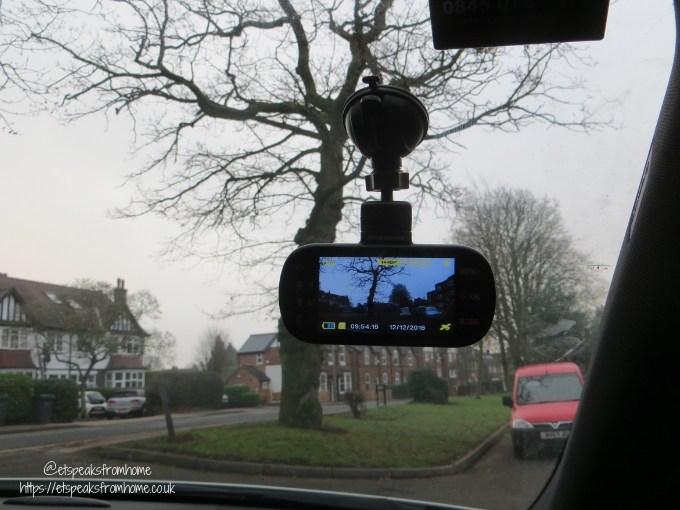 nextbase 512GW dash cam on window