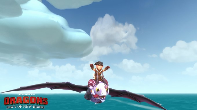 DreamWorks Dragons Dawn of New Riders flying