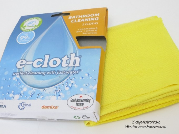 National Spring Cleaning Week with e-cloth bathroom cleaning