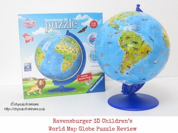 Ravensburger 3D Children's World Map Globe Puzzle Review
