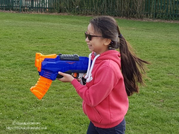 Easter Fun with Hasbro nerf ics-8 ms c