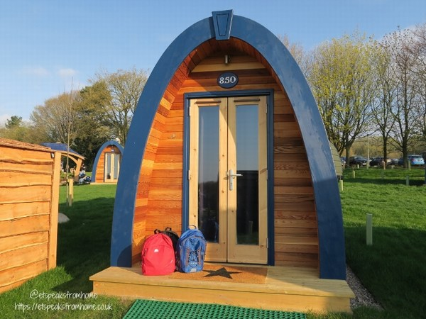 Alton Towers Resort Stargazing Pods front door