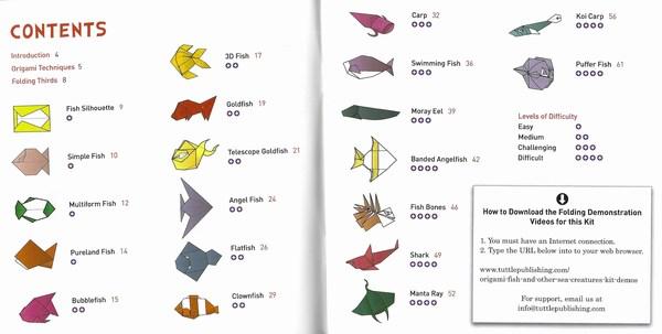 origami fish contents