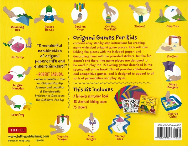 origami games for kids contents