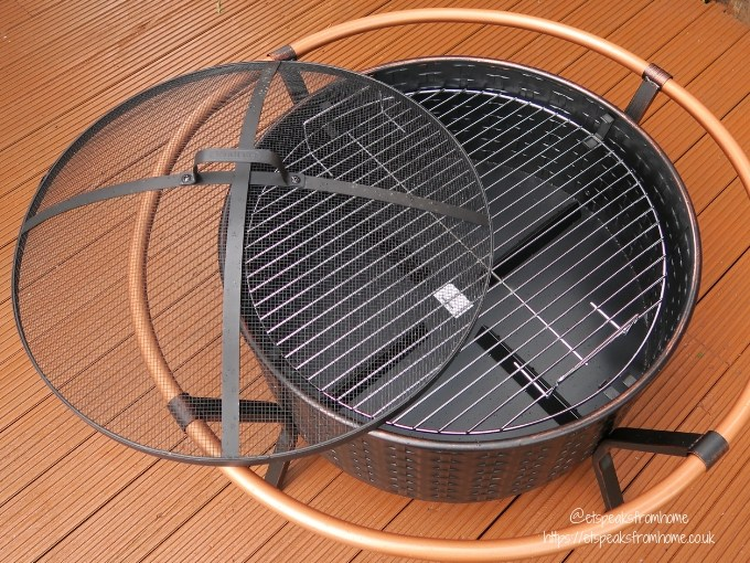 Getting Garden Ready with VonHaus Copper Rim Fire Pit review