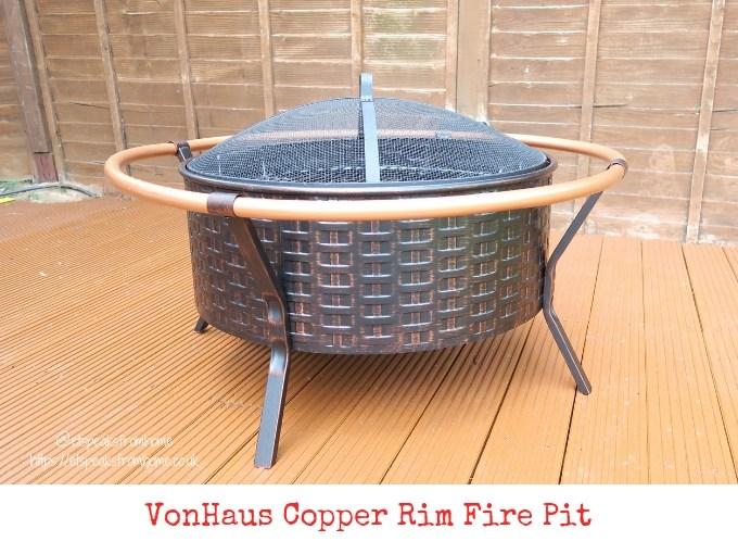 Getting Garden Ready with VonHaus Copper Rim Fire Pit