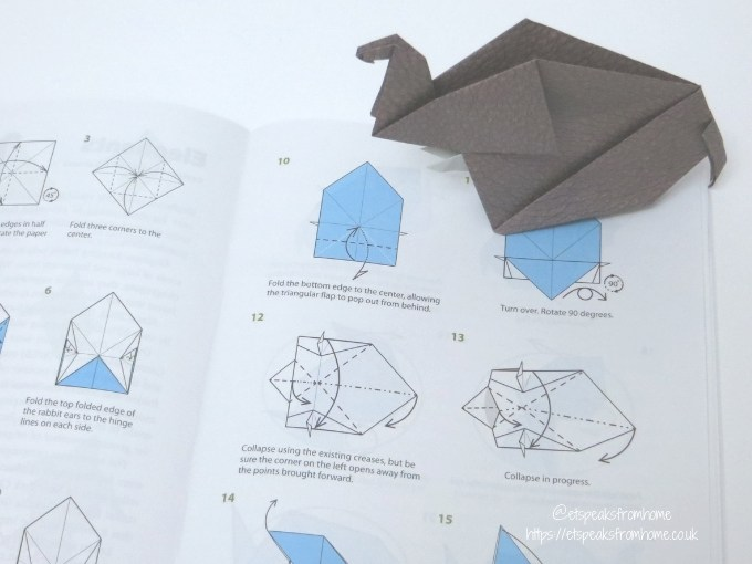 Origami Endangered Animals elephant