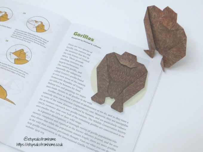 Origami Endangered Animals gorila