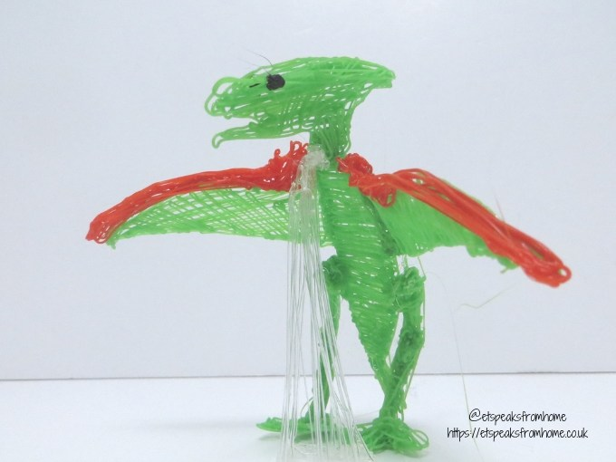 polaroid 3d pen dino model side