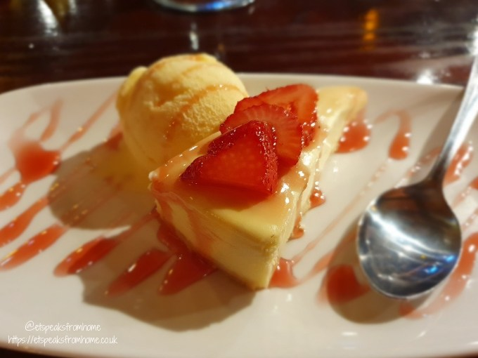 A Day Trip to Coral Island Blackpool cheesecake