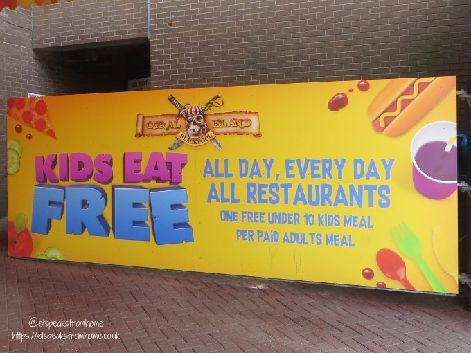 A Day Trip to Coral Island Blackpool child eat for free