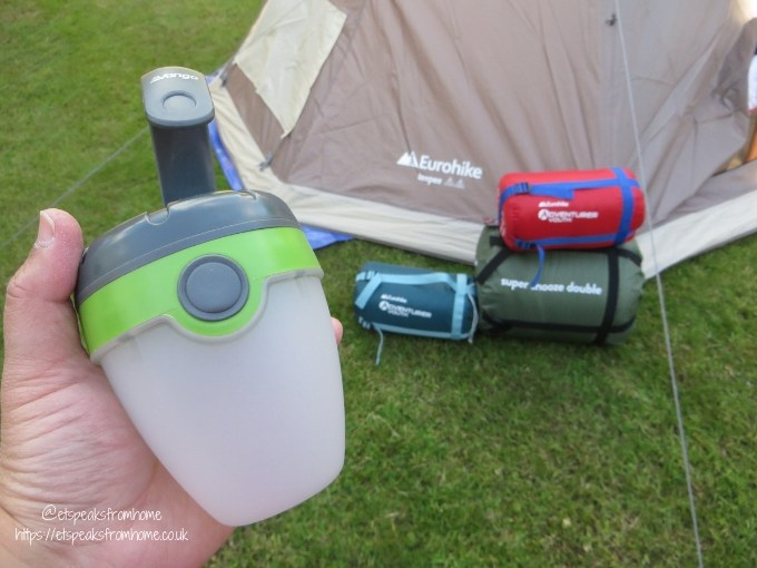 Garden Family Sleepover - Wild Night Out camp light battery