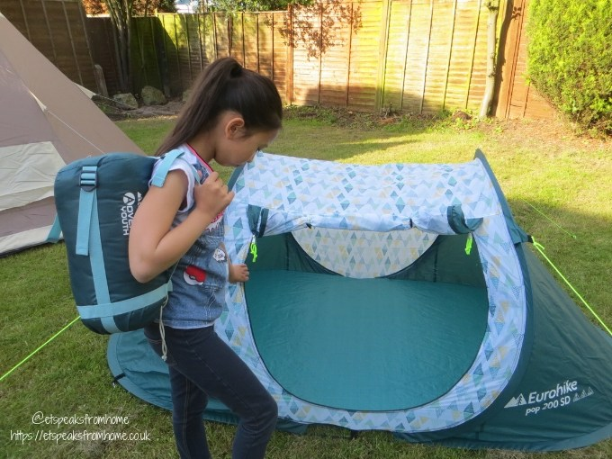 Garden Family Sleepover - Wild Night Out pop tent with sleeping bag
