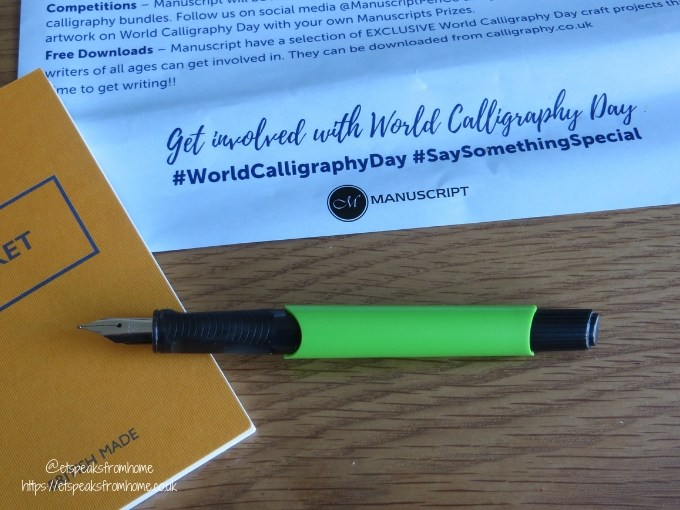 Get Involved in World Calligraphy Day fountain pen