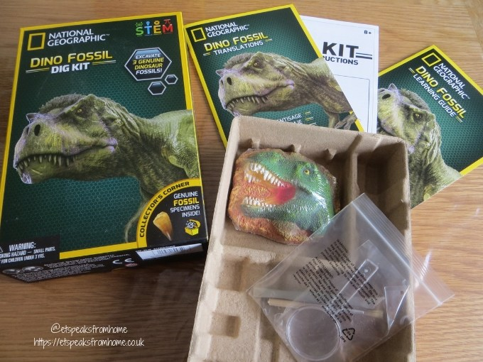 National Geographic dino fossils Dig Kit Review
