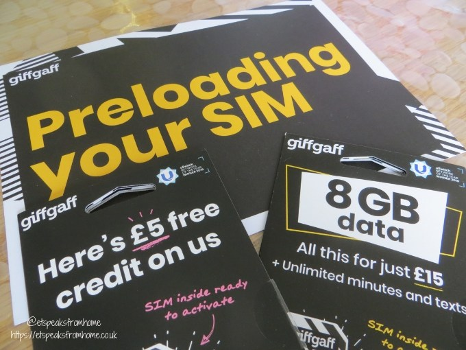 Games Night with giffgaff sim cards
