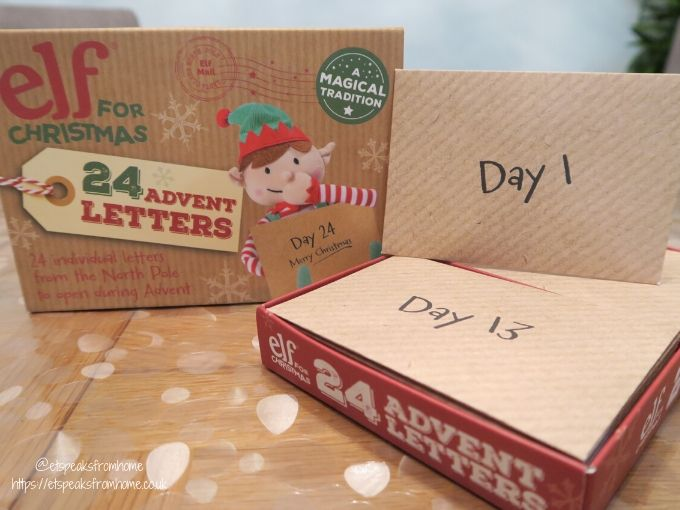 Elf For Christmas 24 Advent Letters set
