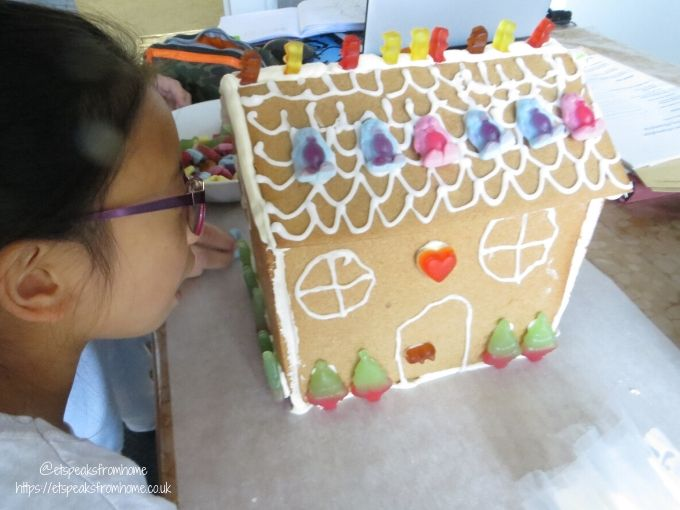 Gingerbread House with Haribo decorate