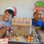 Gingerbread House with Haribo kids