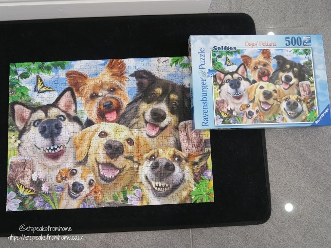 Ravensburger Selfies-Dogs' Delight Puzzle complete