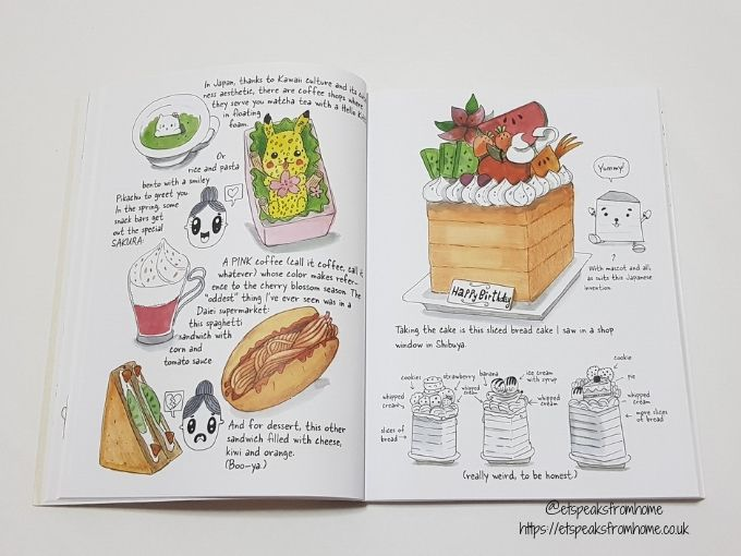 Tokyo Travel Sketchbook food drawing