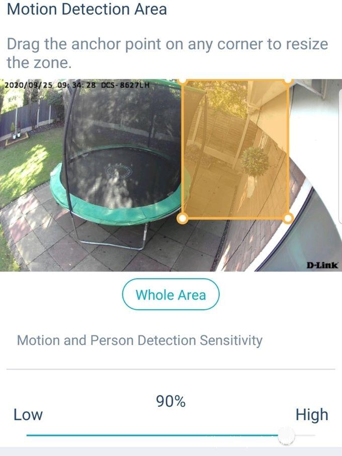 mydlink app control alert