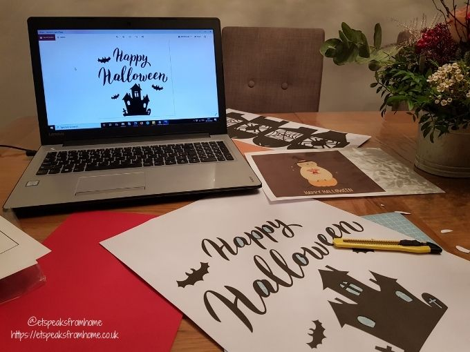 Halloween Craft with Design Bundles farmhouse template