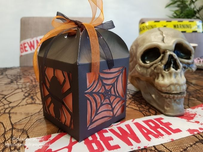 Halloween Craft with Design Bundles spider flavour box