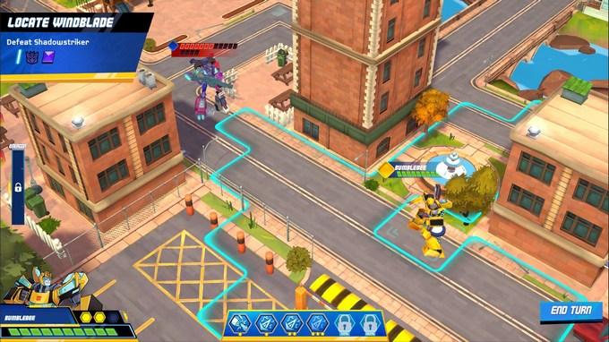 Transformers Battlegrounds game city street