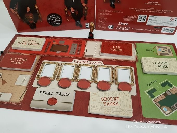 Taskmaster Board Game board