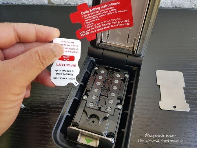 Key Safe Supra P500 changing code