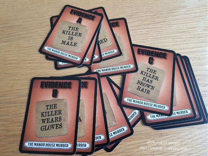 foul play card game manor murder evidence cards