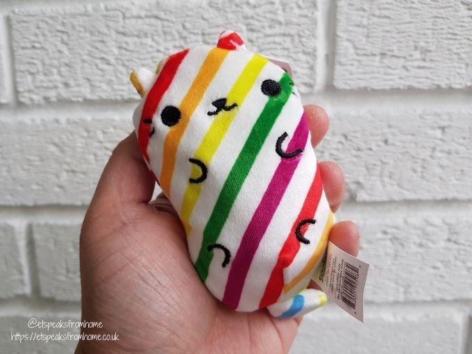 cats vs pickles plushies rainbow stripes