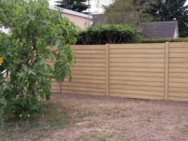 Mur Béton imitation bois pour clôture à Selles Saint Denis