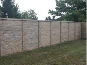 Occultant mur béton imitation pierre