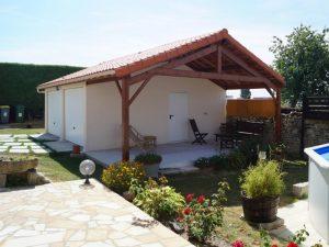 Garage préfabriqué béton avec auvent près de Montrichard