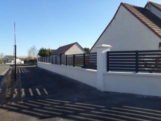 clôture sur muret haut - Ets Thomas Loiret