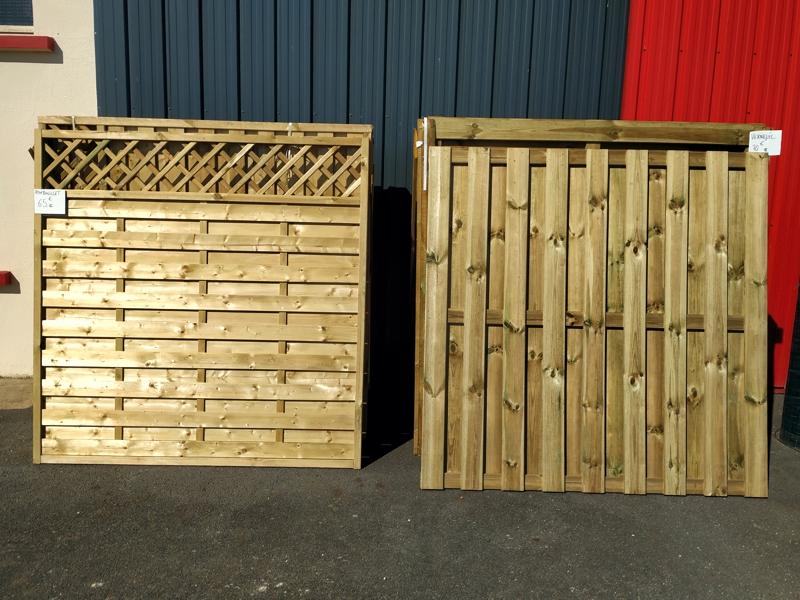 palissade bois pour clôture dispo en magasin