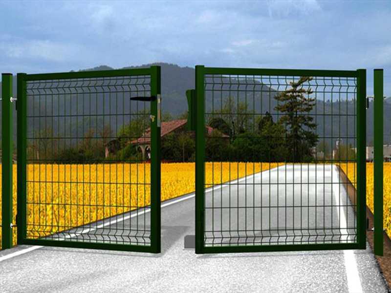 Portillon double pour clôture grillagée