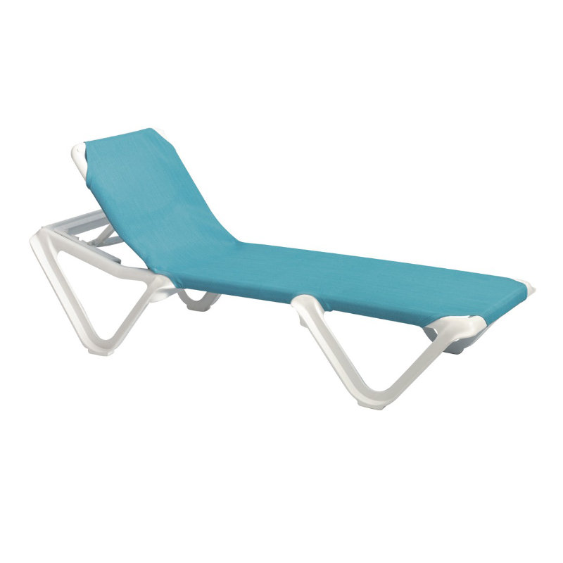 patio lounge chair shoulder stand grosfillex nautical adjustable resin sling chaise w/o arms | et&t distributors
