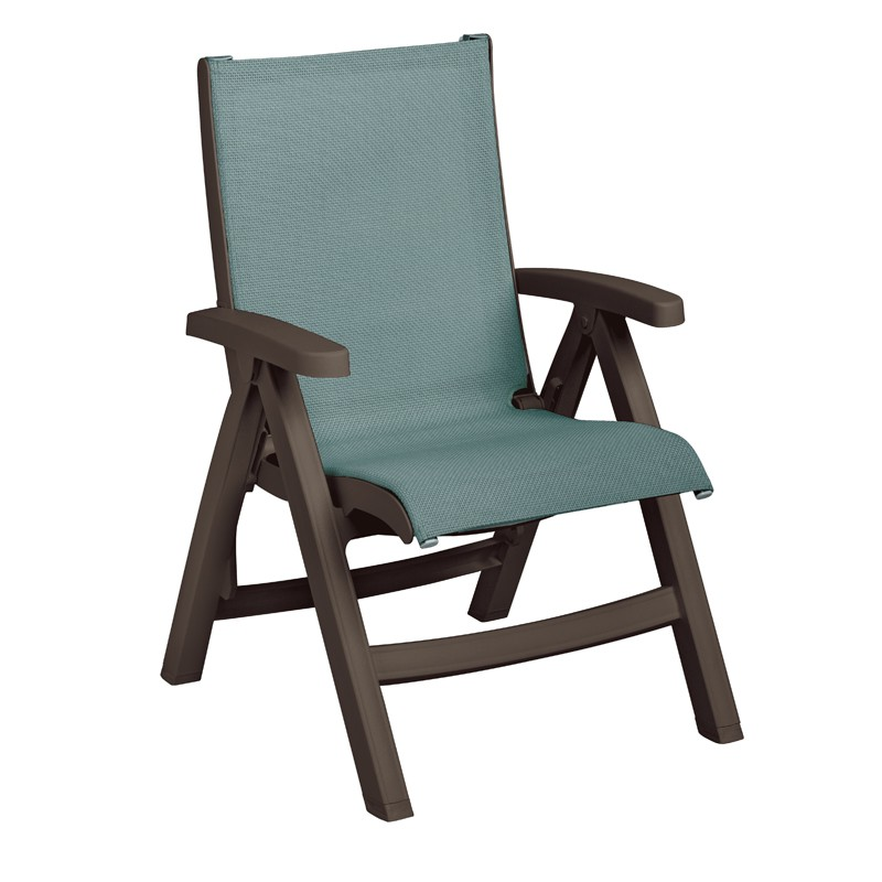Belize Midback Folding Resin Patio Dining Chair  ETT