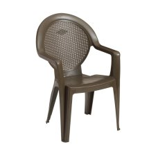 Grosfillex Trinidad Resin Patio Dining Chair With Arms
